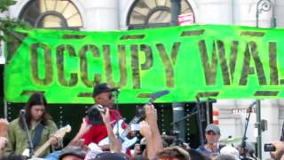 """""""Ghost of Tom Joad"""" Tom Morello Foley Square Occupy Wall Street Anniversary Concert 9-16-12"""