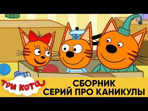 Три Кота | Сборник серий про каникулы | Мультфильмы для детей 🌍🏠🎪 видео