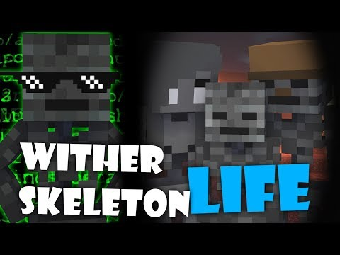 Monster School : WITHER SKELETON LIFE - Minecraft Animation