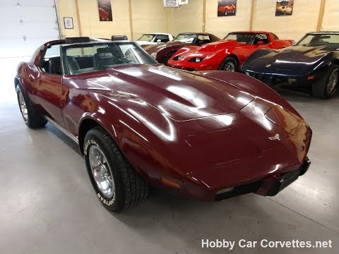 1977 Dark Red L82 Four Speed Corvette Black Interior Video