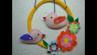 How To Make A Bird And Wall Hanging From Paper At Home // DIY For Kids // Cloth Hacks // Making Bird