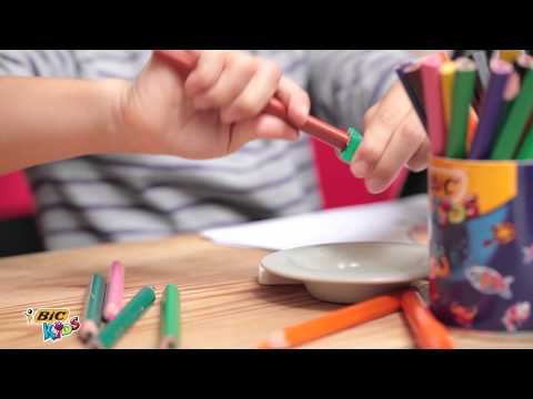 Using BIC Kids Evolution Triangle coloring pencil - 2014 video