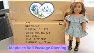 Opening Maplelea 18inch Doll Review Package HAUL!