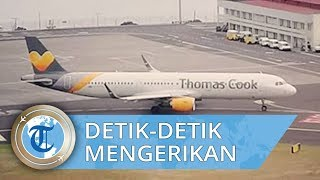 Tertangkap Kamera, Detik-detik Mengerikan Pesawat Landing di Bandara Cristiano Ronaldo