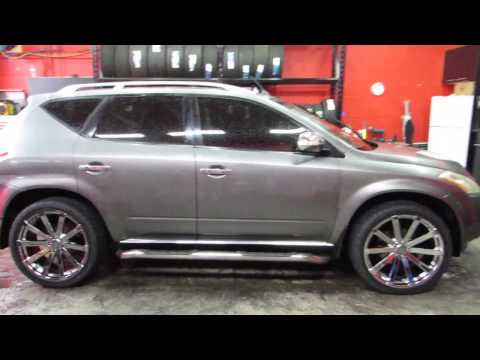 2006 NISSAN MURANO WITH 22 INCH CHROME RIMS & TIRES