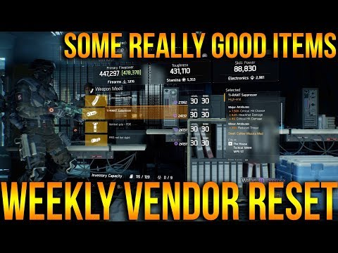 The Division: YOU NEED THESE! BEST VENDOR WEAPONS, MODS & MORE THIS