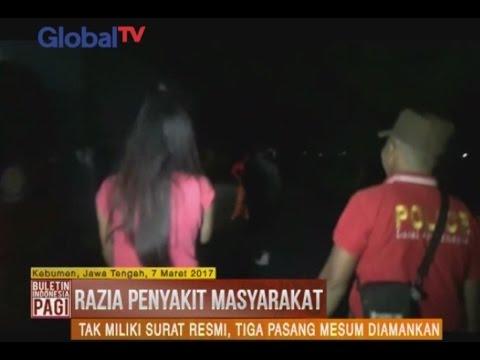 Razia Penyakit Masyarakat di Kebumen, Tiga Pasangan Mesum Diamankan Petugas - BIP 08/03