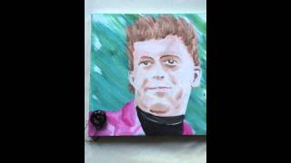 Rick Astley portrait that plays Never Gonna Give You Up