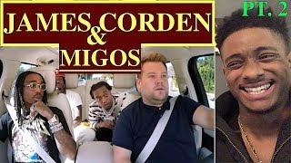 Migos Carpool Karaoke - The Late Late Show with James Corden - ALAZON REACTION EPI 544 PT 2