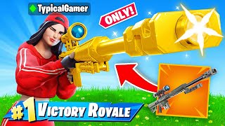 The SNIPER *ONLY* CHALLENGE in Fortnite! (IMPOSSIBLE)