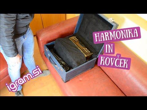Harmonika in kovček