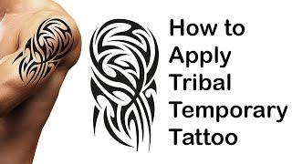 How To Apply Black Temporary Body Art Tattoo Tribal  Aztec Maori Polynesian Samoan Hawaiian Review