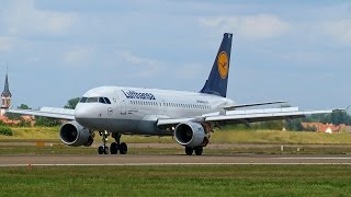 preview picture of video 'D-AIBH Lufthansa Airbus A319 Arriving at Strasbourg Entzheim Airport !'