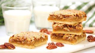 BEST-EVER Pecan Pie Bars   Delicious Christmas Desserts