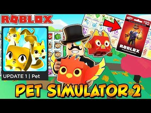 🔴  PETS SIMULATOR 2 UPDATE 1: New World, New Pets, GOLDEN PETS, Multi-Delete + 1000 Robux (Roblox)