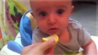 ДЕТИ ПРИКОЛЫ едят лимон Children eat a lemon Compilation