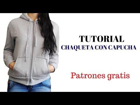 DIY Como hacer una chaqueta con capucha para mujer