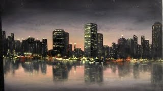 Paint with Kevin Hill - City Lights Painting
