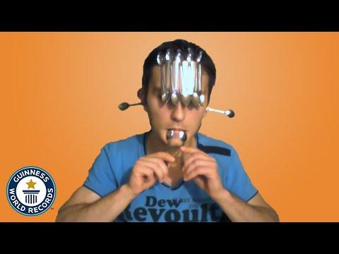 Spoon Balancing World Record