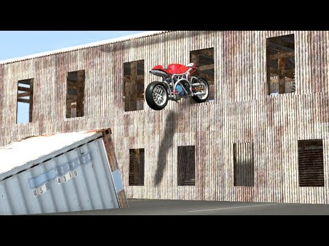 Download Beamng drive - Impossible Motorbike Stunts HD Mp4 3GP Video and MP3