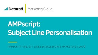 AMPscript Personalised Subject Lines in Salesforce Marketing Cloud