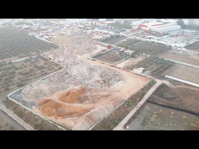 צפו: מבצע רחב היקף נגד תופעת שפיכת פסולת בניין בטייבה