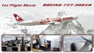 Download Video Swiss Boeing 777-300 First Flight Day Business + First Class Views [AirClips full flight series] MP3 3GP MP4