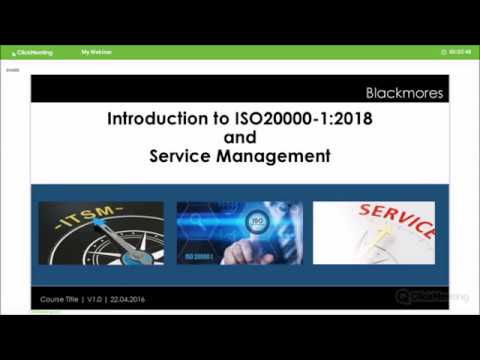 ISO 20000-1 IT Service Management webinar - YouTube