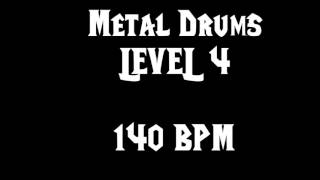 Metal Drums Level 4 (140bpm) Free Drum Track