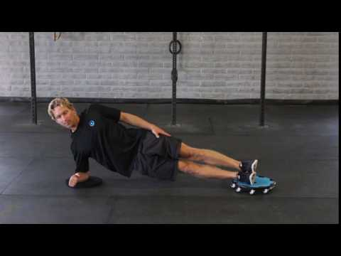 Side Plank Knee Tuck-Feet On Disc