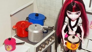 Como fazer Panela (de pressão, panelão e panelinha) para boneca Monster High, Barbie, etc