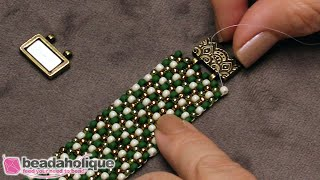 How to Attach a TierraCast Magnetic Clasp to Bead Weaving
