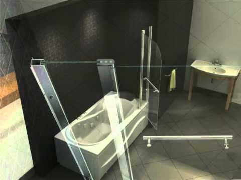 Duschwand, Duschabtrennung, Badewanne von Qualitativ-Innovativ