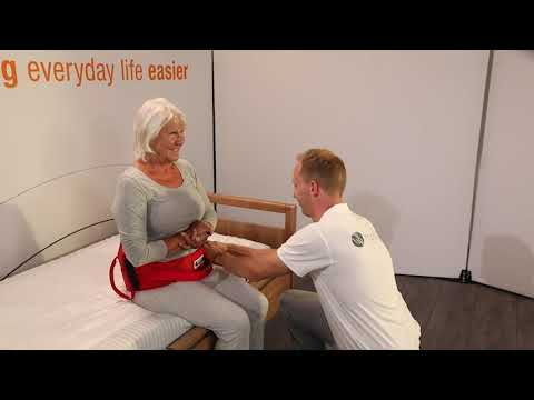 Sit to stand or stand to sit with a single carer using the ReTurn and ReTurnBelt