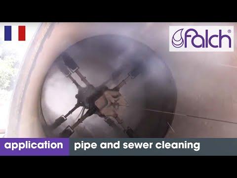 Nettoyage haute pression de tuyaux et canalisations avec nettoyeur haute pression