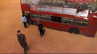London Bus Transports To Desert