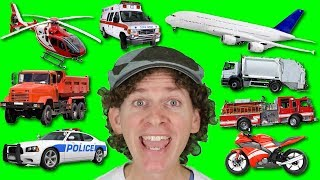 A to Z Alphabet Vehicles Chant with Matt | Learn Vehicles and Transport Names | Alphabet for Kids