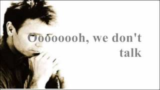 Cliff Richard - We Don't Talk Anymore [ Lyrics on video...HQ sound ]