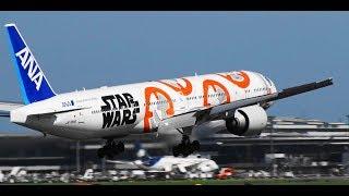 ✈✈台風20号通過後の成田空港9機の横風着陸CrosswindlandingNaritaAirport!!RWY16R