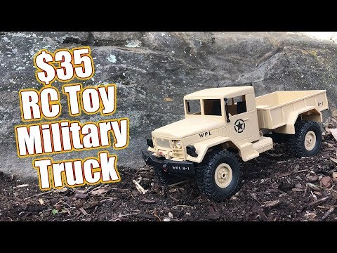 Cheap $35 4WD RC Toy Military Truck – WPL Toys B-1 Review    RC Driver
