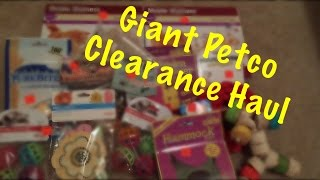 Giant Petco Clearance Haul