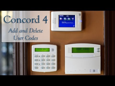 How To: Change User Codes on Concord 4