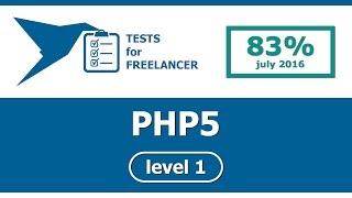 Freelancer - PHP5 - level 1 - test (83%)