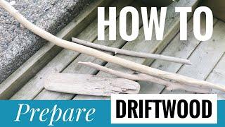 💠 MACRAME 101 - How To Prepare Driftwood