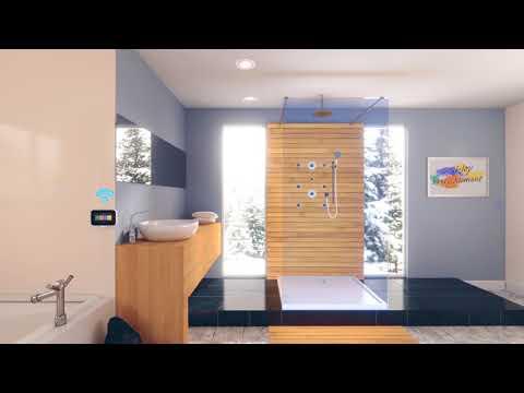 Bad met ledverlichting en inbouw kranen badkamer inspiratie