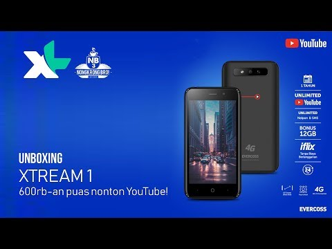 Unboxing XL Xtream 1 Hape Android 600rb-an Unlimited Youtube Selama Setahun Part 1/4