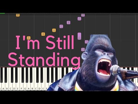 Elton John- I'm Still Standing- Easy Piano Tutorial by Tunes with Tina