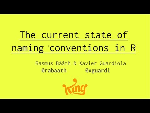 UseR 2017 - Naming Conventions
