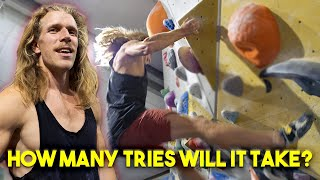 Thor found the perfect project - We wish you the best Peter by Eric Karlsson Bouldering