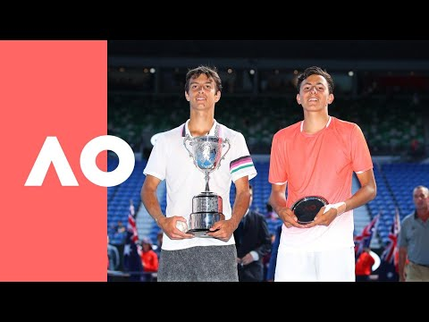 Junior boys' singles trophy presentation | Australian Open 2019
